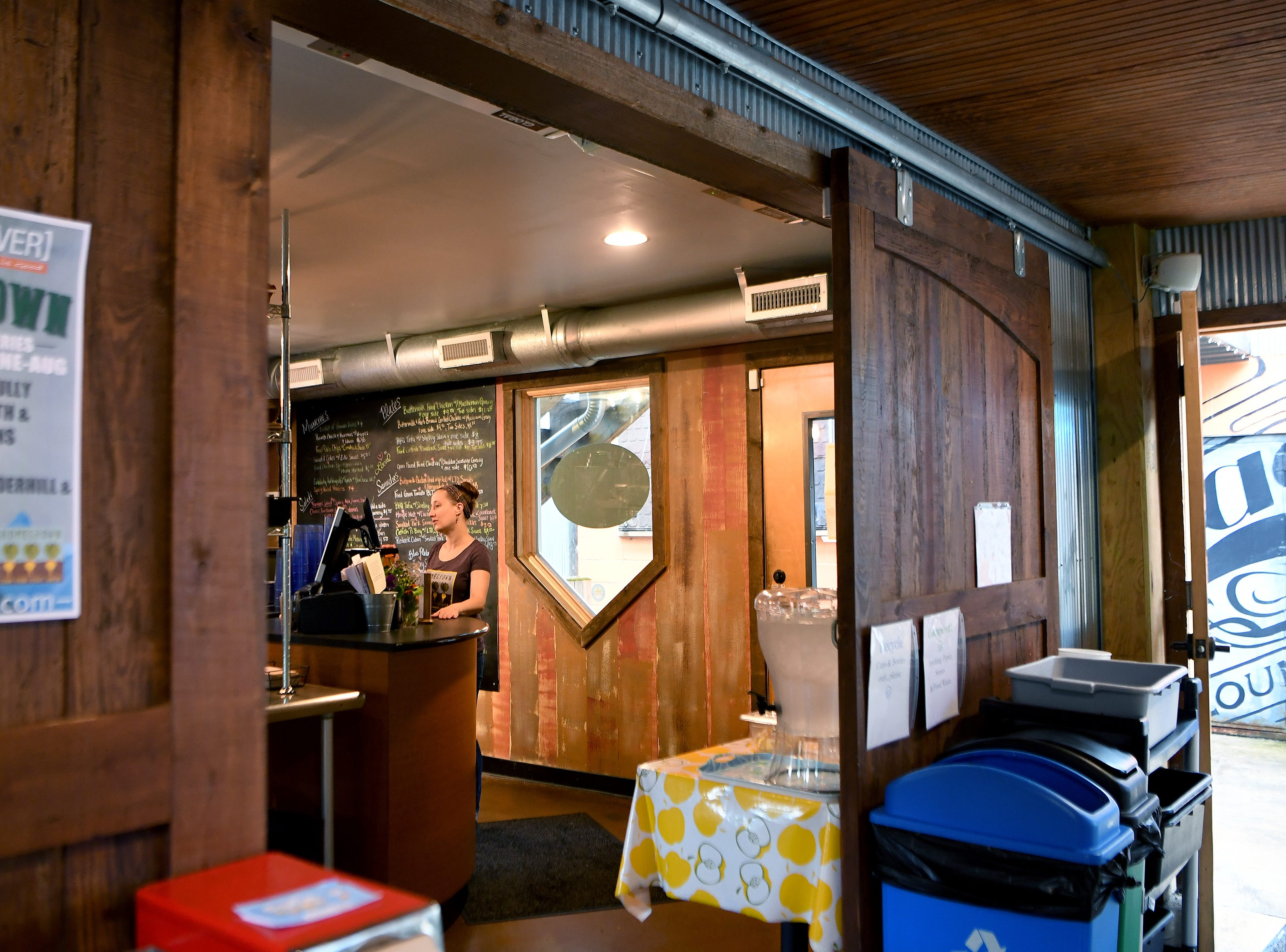 HomeGrown West, the new second location of the Merrimon Avenue flagship, is located in the Asheville Food Park on Amboy Road. The order-at-the-counter-style restaurant has seating both inside and outside.