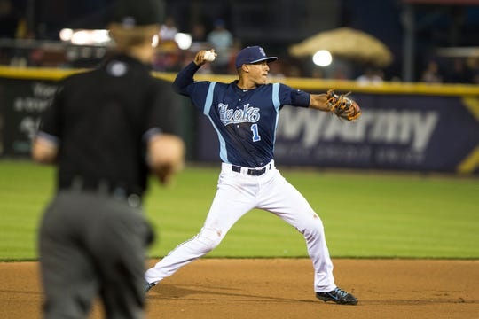 Carlos Correa went 2 for 5 with a home run against the Houston Astros during an exhibition game at Whataburger Field on April 2, 2015.