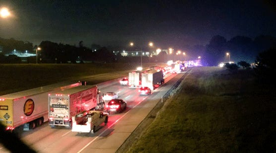 Northbound Interstate 71/75 isshut down on the Cut-in-the-Hill due to a crash involving a semi tractor-trailer, according to Kenton County dispatchers.
