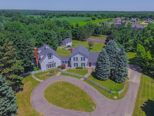 Aerial view of Kid Rock's childhood home in Bruce Township, Michigan.