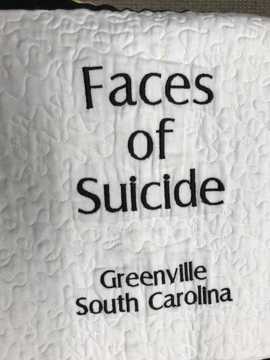 Faces of Suicide quilt