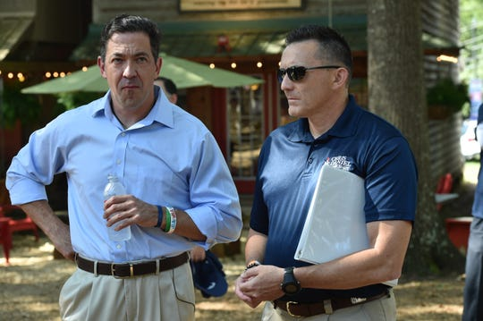 Chris McDaniel pregame at the Neshoba County Fair political stump rally. Thursday, Aug. 2, 2018.