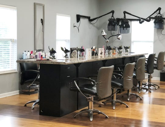 """""""We are inclusive; families and groups can book someone to do their services all at the same time,"""" said Knoxville Beauty Collective salon owner Scarlet Strange of her newly opened 12-chair salon in Fountain City."""