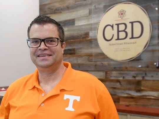 Todd Bliss, manager at CBD American Shaman in Lovell Rd.
