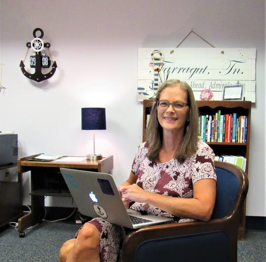 Principal Deborah Adorante in her office at Farragut Intermediate School in July 2018.
