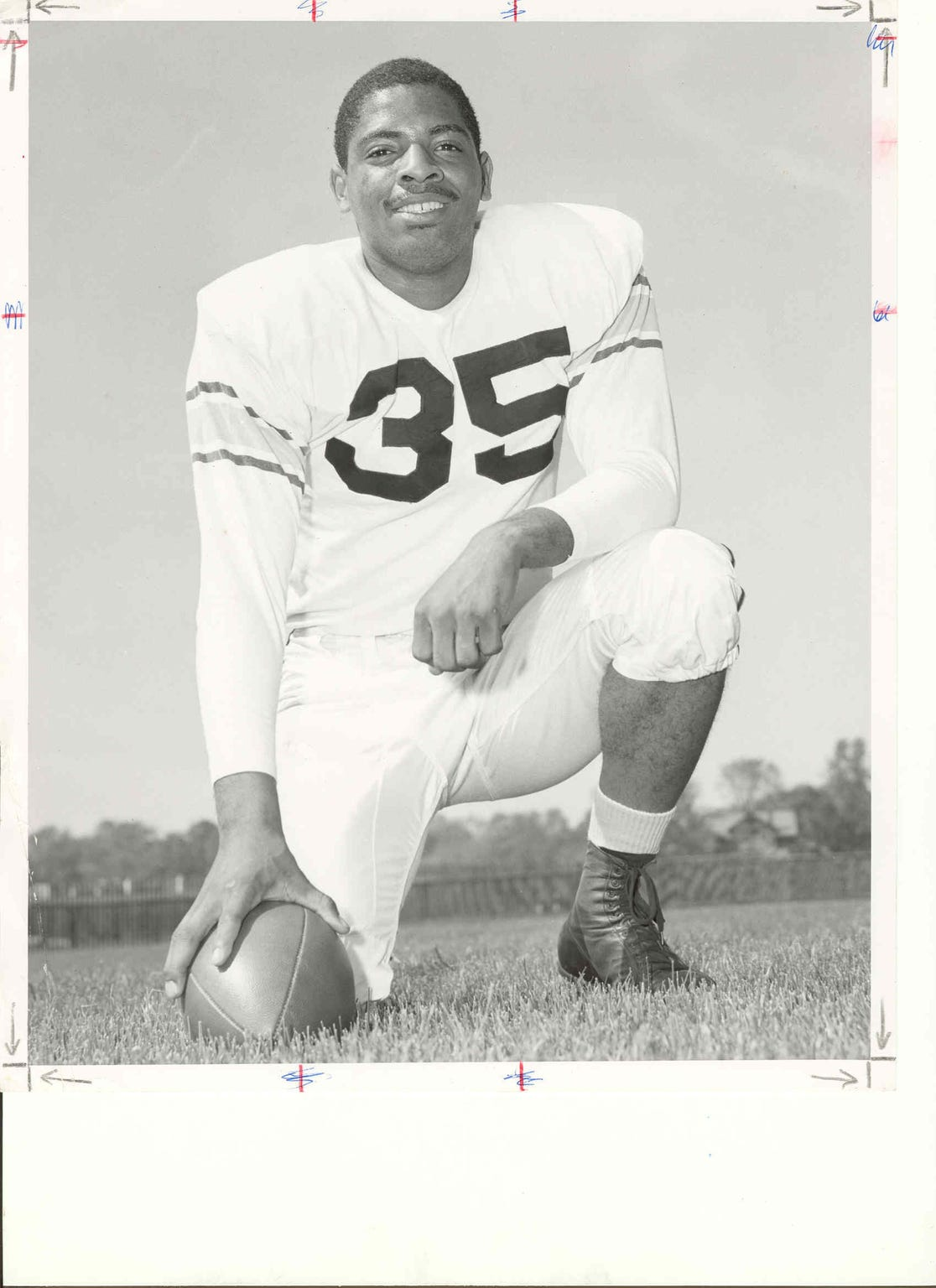 Purdue fullback Mel Dillard had four 100-yard rushing games in 1956.