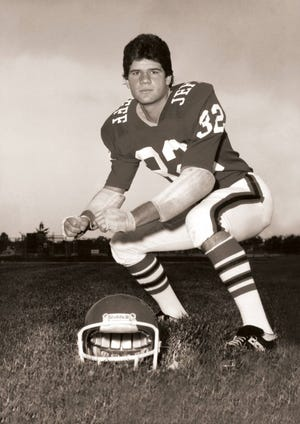 Lafayette mayor Tony Roswarski during his football days at Jefferson High School in the 1970s.