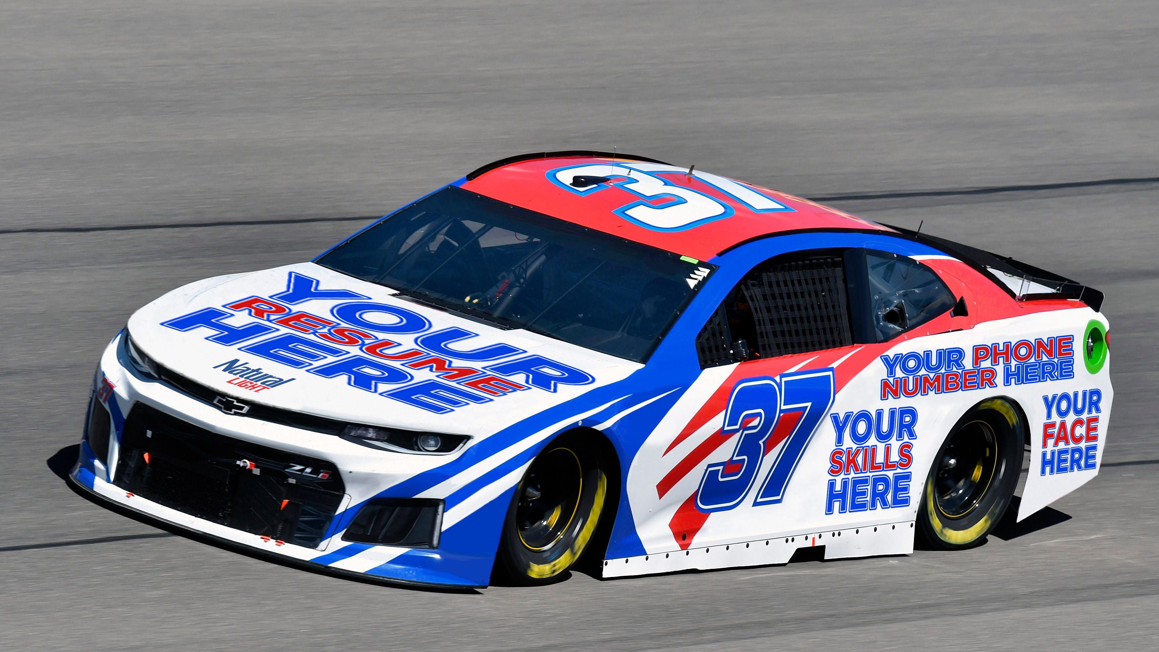 Resume on a race car: How Natty Light wants to help you get hired