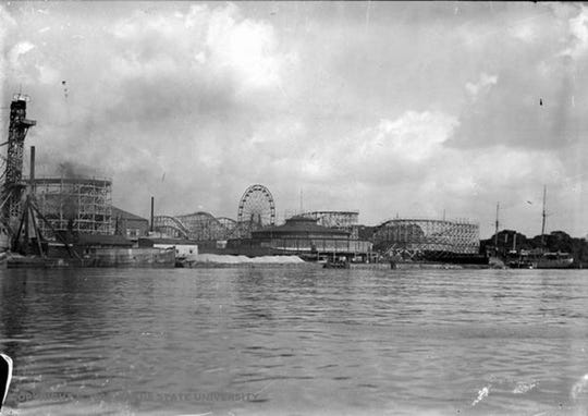 When Electric Park closed in 1927, the roller coaster was disassembled and rebuilt in Eastwood Amusement Park.