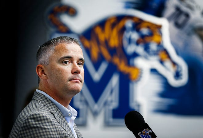 University of Memphis head coach Mike Norvell holds a press conference during football media day at the team facility on the South Campus.