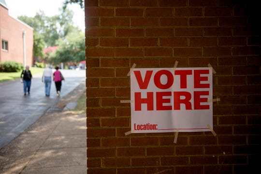 Voters head in to cast their ballots at Second Baptist Church during the Shelby County general election in August.