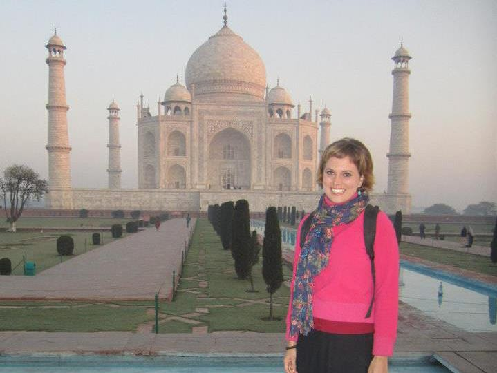 At the Taj Mahal. Heather Woodward, daughter of Marco Islander Craig Woodward, has lived all over Asia and traveled all over the world.