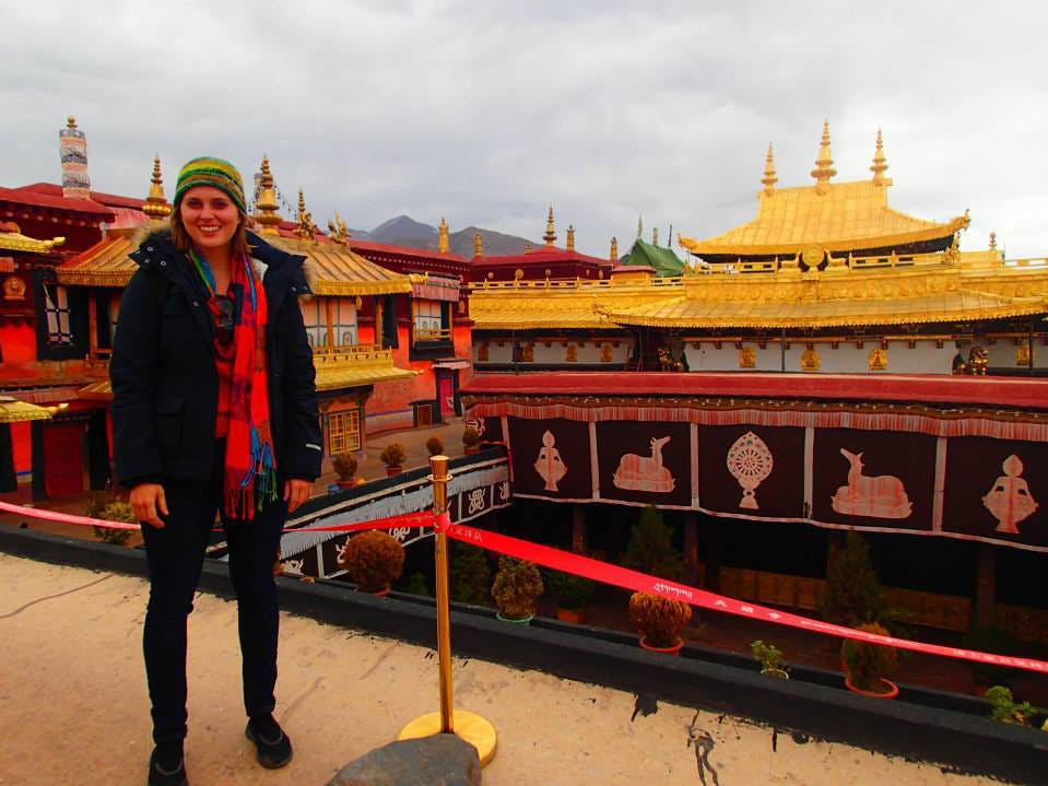 Heather in Tibet. Heather Woodward, daughter of Marco Islander Craig Woodward, has lived all over Asia and traveled all over the world.