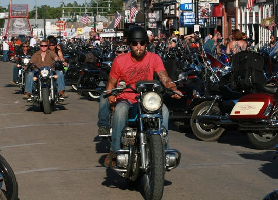 A variety of old and new motorcycles are found on the streets of Sturgis, S.D.