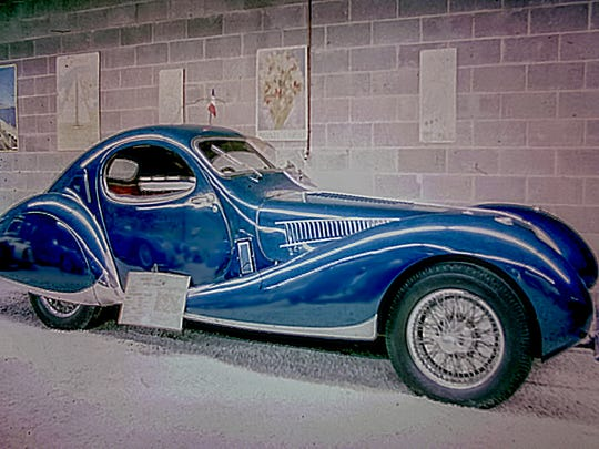 A 1938 Talbot Lago T150 C at the old Brooks Stevens Automobile Museum, in Mequon, in the 1960s. Stevens at one time owned the other 1938 model later owned by Roy Leiske and stolen from Milwaukee in 2001.