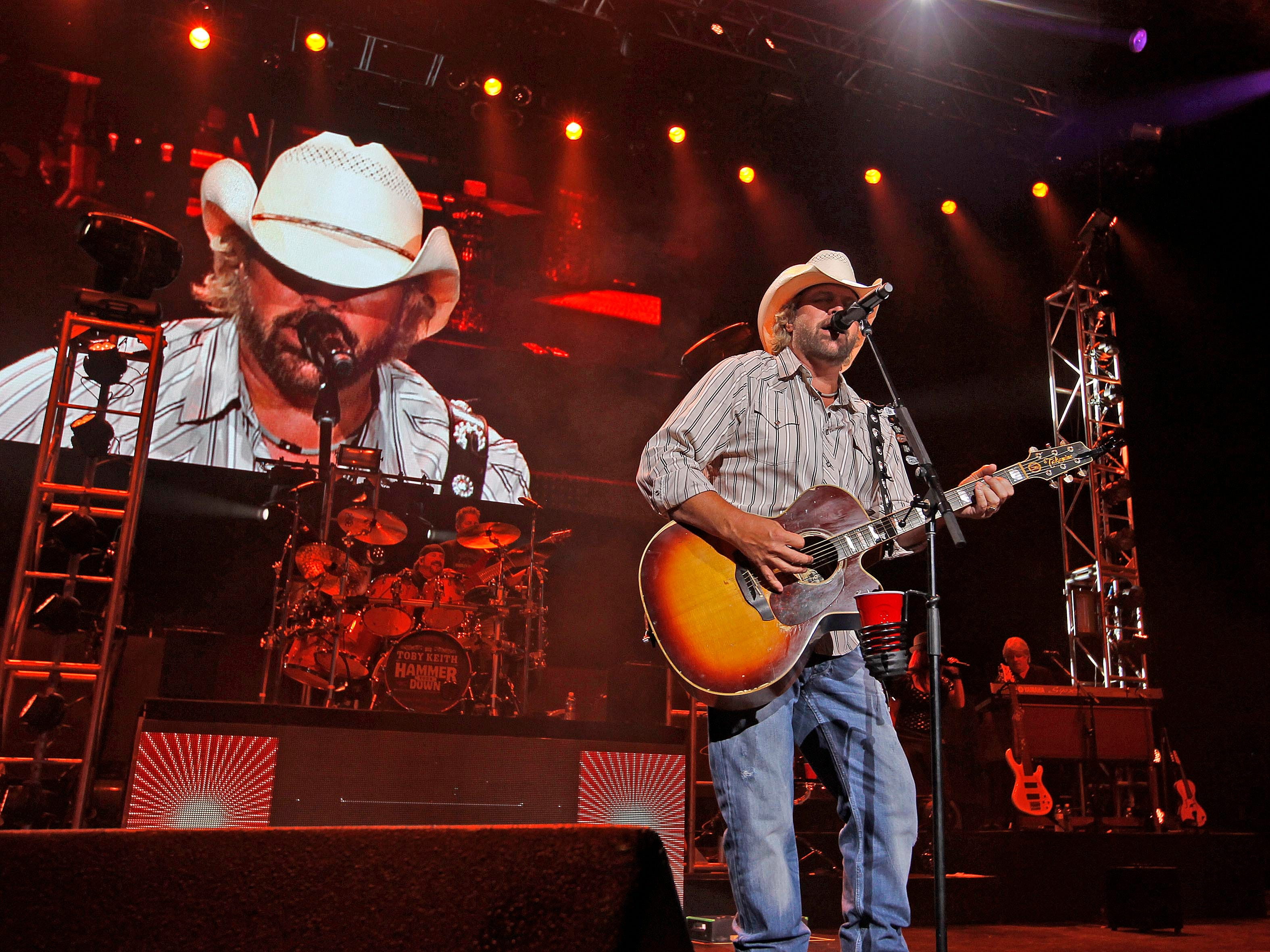 2013: Toby Keith performs for the Harley-Davidson faithful at the opening night of Harley's 110th anniversary celebration at Summerfest's Marcus Amphitheater on Aug. 29, 2103.