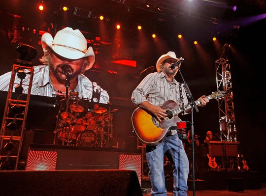 2013: Toby Keith performs for the Harley-Davidson faithful at the opening night of Harley's 110th anniversary celebration at Summerfest's Marcus Amphitheater on Aug. 29, 2013.