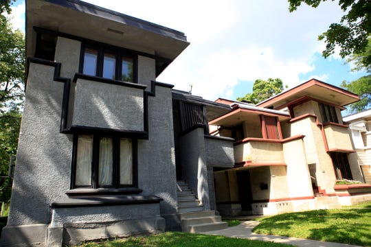 Homes designed by Frank Lloyd Wright line West Burnham Street in Milwaukee. The homes show Wright's attention to designing for middle and low income families.