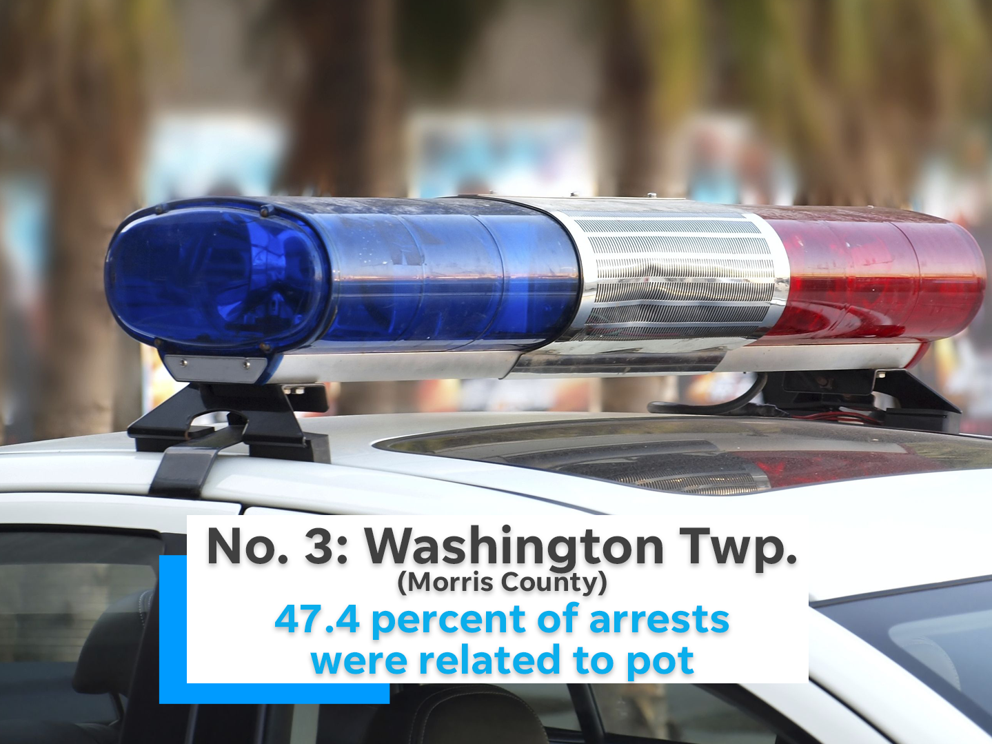 47.4 percent of Washington Township's (Morris County) arrests were related to marijuana.