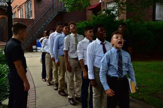 Naval Academy leadership program at St. Benedict's Prep School in Newark, NJ.