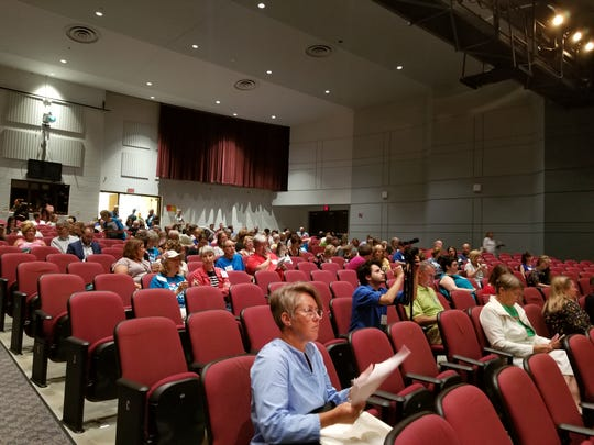 Attendees of the Wisconsin Public Education Network's Summer Summit await the start of the annual event Wednesday, Aug. 1, 2018, at Appleton North High School.