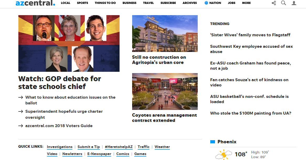 Here's what you need to know about the new look on azcentral.com | Arizona Central