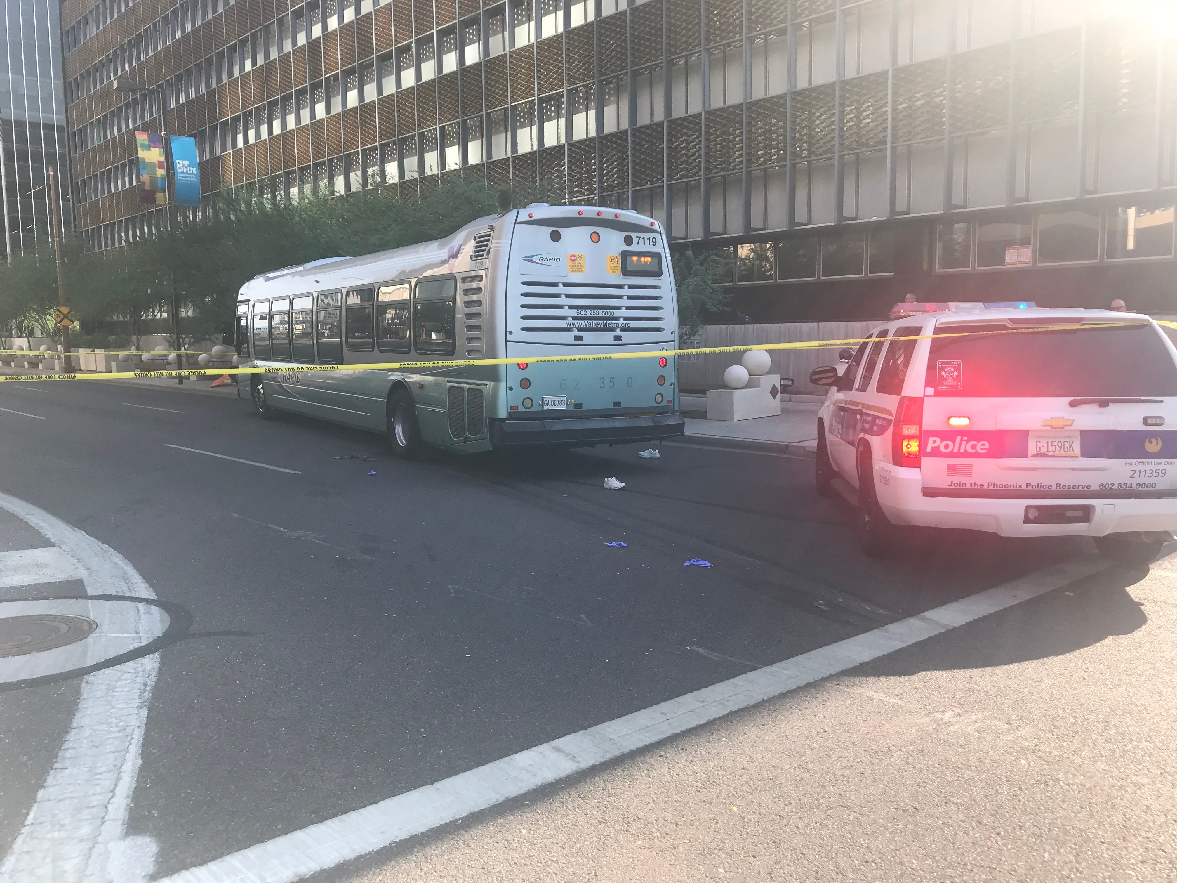 Man hit by city bus in downtown Phoenix in 'extremely critical condition'