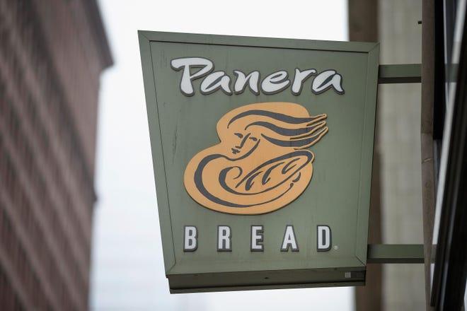 File art of a Panera Bread sign.