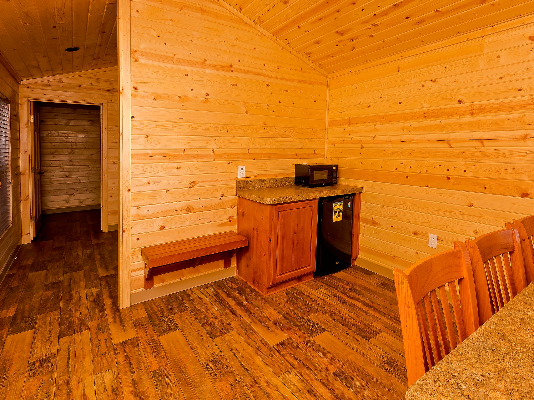 Cabins at Patagonia Lake come with refrigerator and microwave.