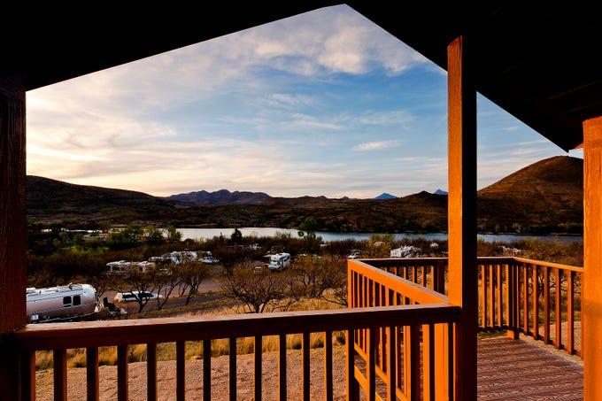 View of Patagonia Lake.