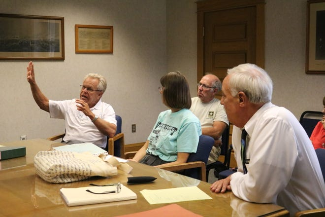 Members of the Ottawa County Park District, Gary Kohli, Carol Fox and Don Flick, met for the first time in more than a decade in early August.