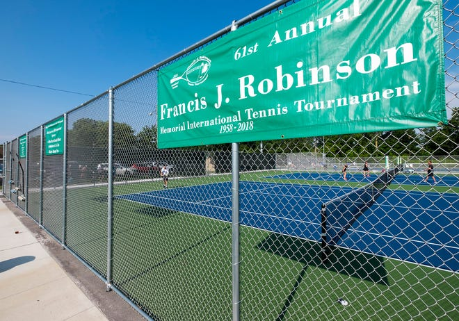 The 61st annual Francis J. Robinson Memorial International Tennis Tournament is being held at Port Huron Northern High School through Sunday.