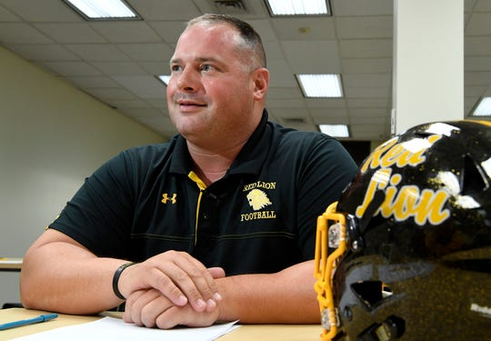 Red Lion head football coach Jesse Shay said all of his best running backs have also been wrestlers. DISPATCH FILE PHOTO