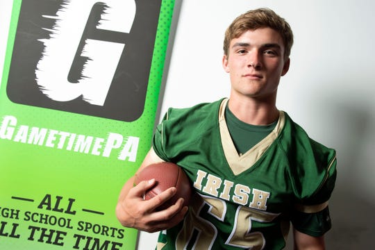 York Catholic's Jarred Kohl poses for a photo during YAIAA football media day in Hanover on Thursday, August 2, 2018.