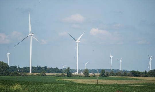 EDF's 65-megawatt Sugar River Wind Project would include 24 turbines, narly 500 feet tall, spread over 5,870 acres in the town of Jefferson, a rural farming community of 1,200 people near the Illinois border in Green County.