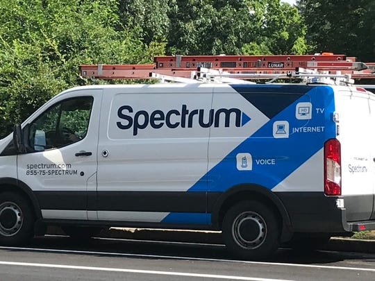 A Charter Spectrum truck parked on Madison Ave. in Albany on Thursday, Aug. 2, 2018.