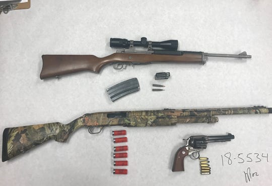 Here are the firearms found in Sean Vinson's pickup