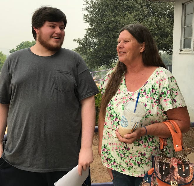 Cindy McLaughlin and her son, Tyler, had to be evacuated four times due to the Carr Fire.