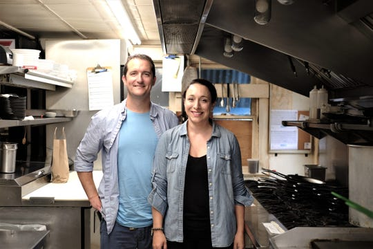 Blue Moon co-owners Lion and Meg Gardner stand in the kitchen of the Rehoboth mainstay.