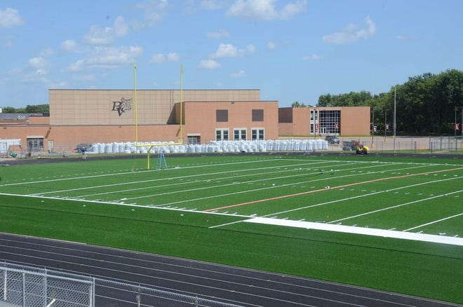 The artificial turf has been placed for the Brandon Valley School District, and Aug. 20 will mark the first event for the new field.