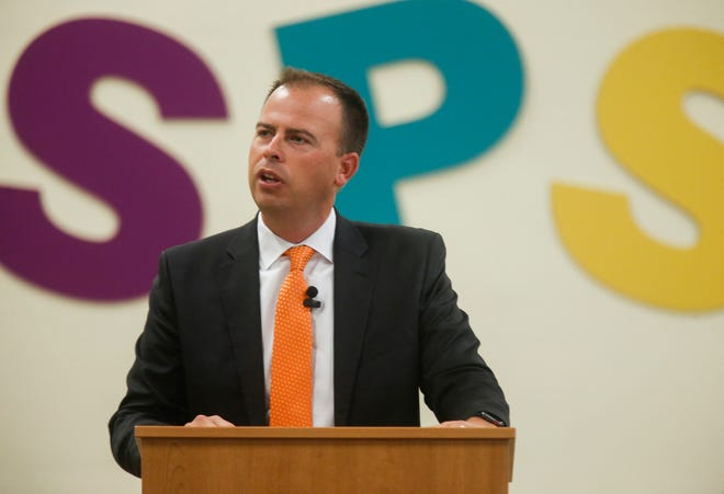 Springfield Public School's Superintendent John Jungmann speaks during a special edition of Good Morning Springfield that highlighted Springfield Public Schools at Hillcrest High School on Thursday, Aug. 2, 2018.