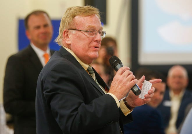 Springfield Mayor Ken McClure talks about his dreams for students during a special edition of Good Morning Springfield that highlighted Springfield Public Schools at Hillcrest High School on Thursday, Aug. 2, 2018.