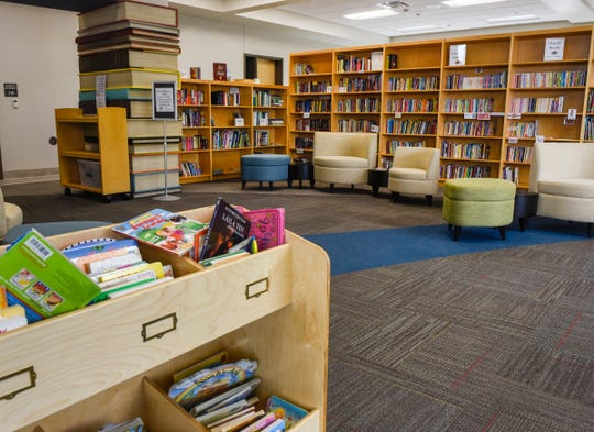 The Sartell Community Center has a library with a children's section. It's  shown Thursday, Aug. 2, in Sartell.