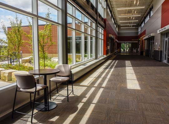 The Sartell Community Center has been open for almost a year, offering meeting rooms, a library, senior center and indoor walking track. It's shown Thursday, Aug. 2.