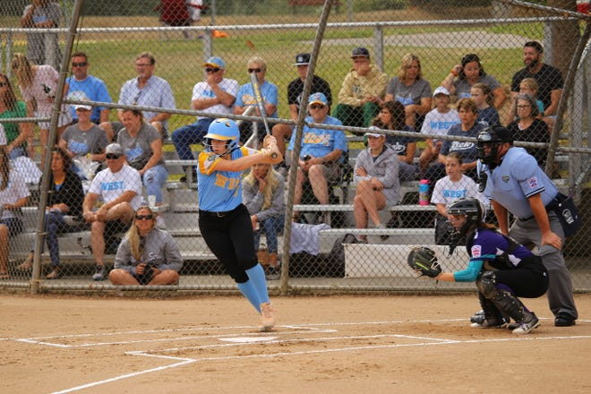 Jenna Thorkelson of the Snow Canyon All-Stars swings during the Junior League Softball World Series.