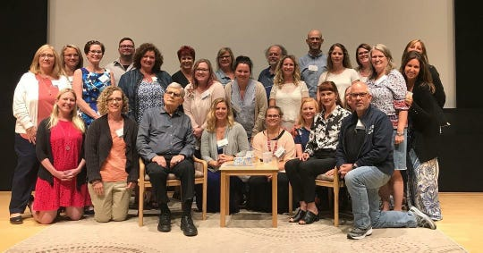 U.S. Holocaust Museum Teacher Fellows with Holocaust survivor Fritz Gluckstein.