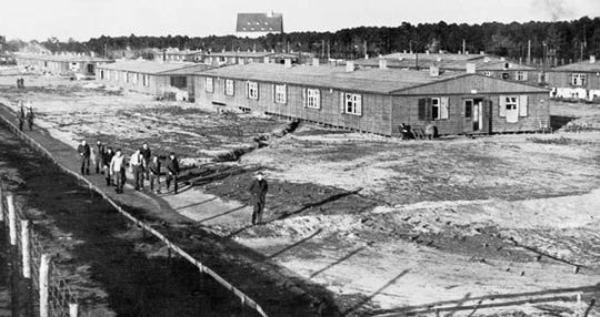 Stalag II A  in Neubrandenburg, northern Germany in 1944.