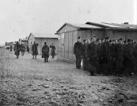 Prisoners at Stalag II A , where Joseph Sheldon Baker, Jr. was held.