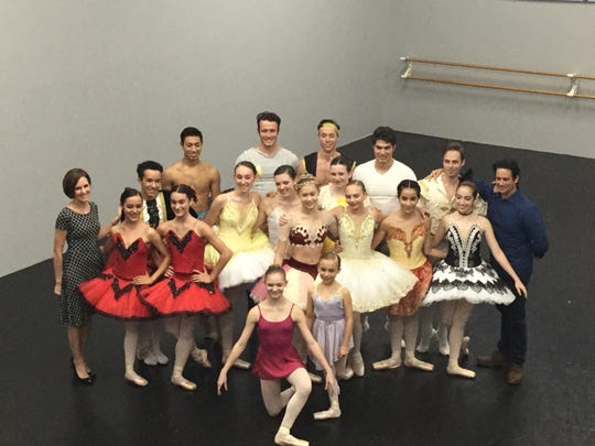 Advanced dancers learned and performed classical pas de deux from a number of guest artists.