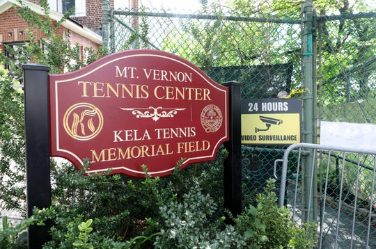 The closed entrance to the Mount Vernon Tennis Center at Memorial Field, Aug. 2, 2018.